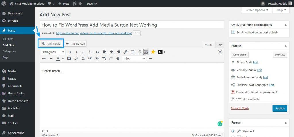 Fix Add Media Button Not Working in WordPress