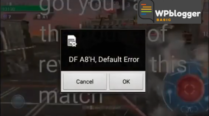 Df a8'H Default Error